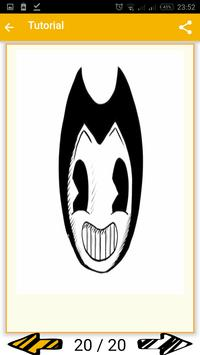 Draw Bendy from Bendy and the Ink Machine. screenshot 3