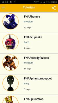 Draw five nights at freddy's Characters poster