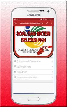 Contoh Soal dan Materi Seleksi PKH 2018 apk screenshot