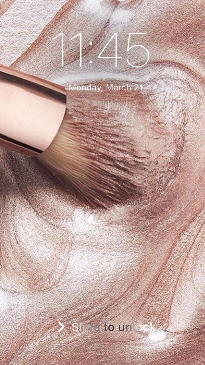 Rose Gold Cosmetics Makeup Wallpaper Lock Screen For Android