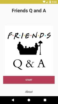 Friends Q&A poster