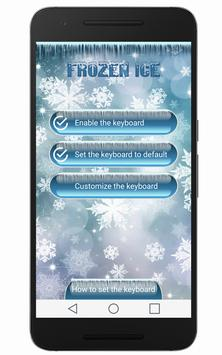 ❆Frozen Ice Keyboard ❆ apk screenshot