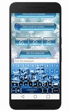 ❆Frozen Ice Keyboard ❆ poster
