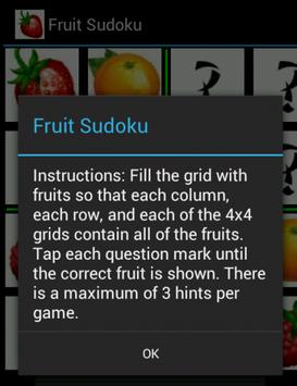 Fruit Sudoku apk screenshot