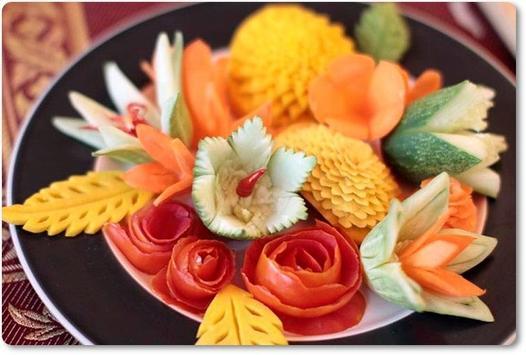 Fruit Vegetable Carving Arts poster