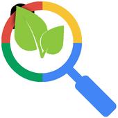 Vegan recipes search icon