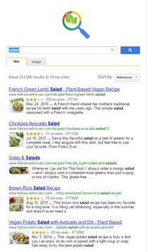 Vegan recipes search poster