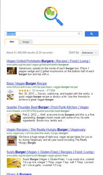 Vegan recipes search apk screenshot