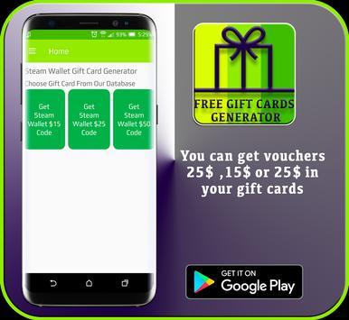 gift card generator apk 2017