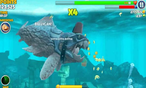 hungry shark how to use map