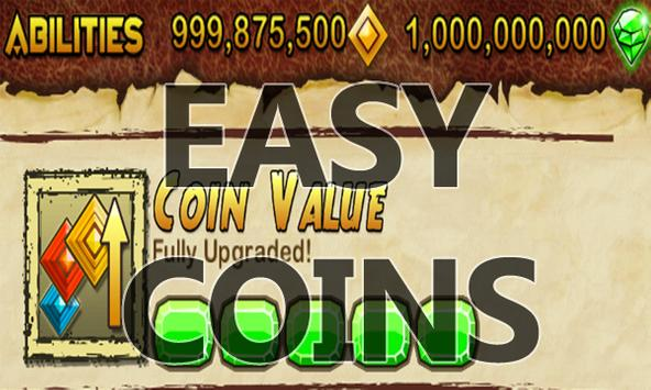 Coins Gems For Temple Run 2 poster
