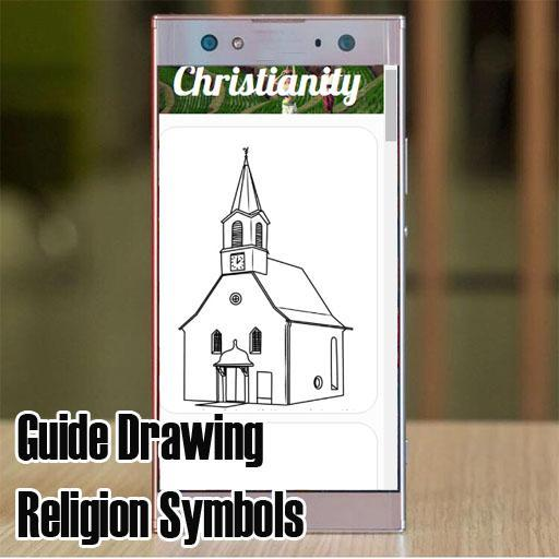 Guide Drawing Religion Symbols poster
