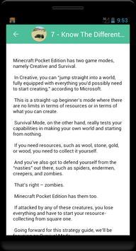Guide minecraft pocket edition screenshot 1