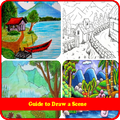 how to drawing scenery