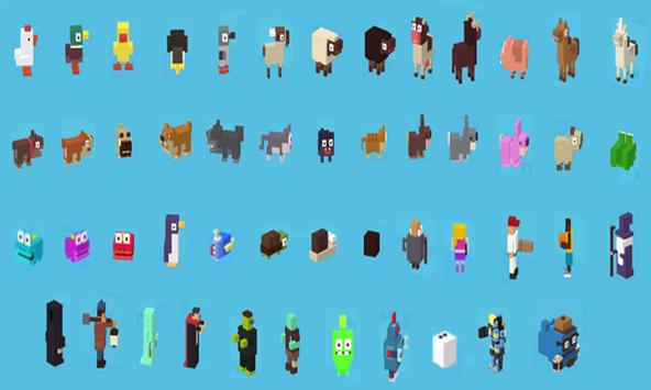 Characters For Crossy Road poster