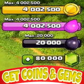 Coins Gems Clash of Clans icon