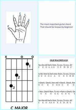 Learning Guitar Chord For Beginner Poster Apk Screenshot
