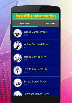 Bodybuilding Workout Exercises screenshot 3