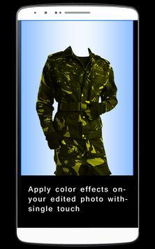 Men Army Dress Photo Editor screenshot 4