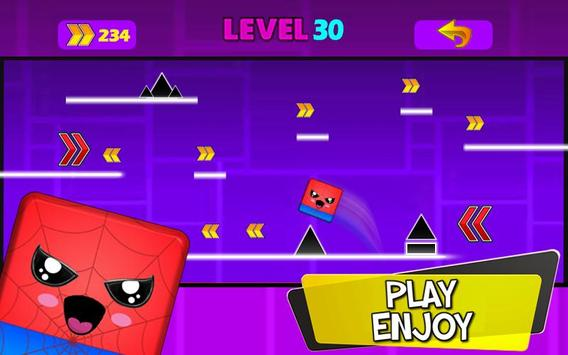 Geometry hero-Magic Spider Dash world screenshot 2