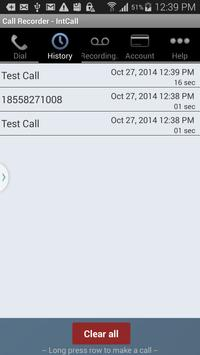 Call Recorder - IntCall screenshot 3