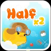 Halfx2 icon