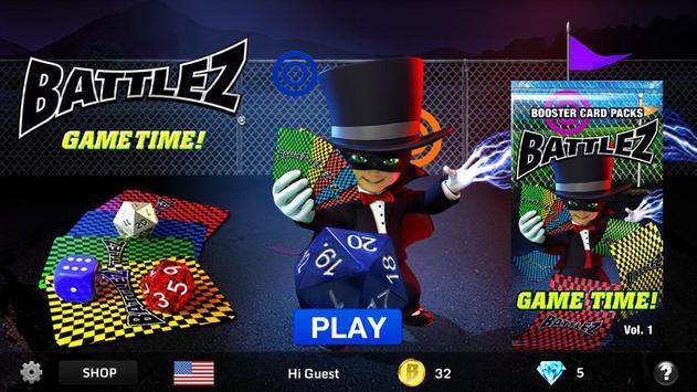 BATTLEZ ® Cards & Dice Game™ poster