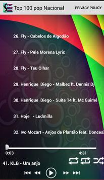 Top Músicas Pop Nacional apk screenshot