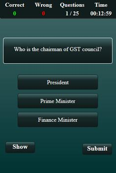 Goods and Services Tax Quiz screenshot 1