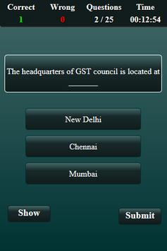 Goods and Services Tax Quiz screenshot 2