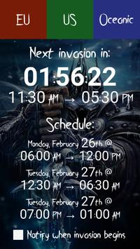 WoW Legion Invasion Timer screenshot 2