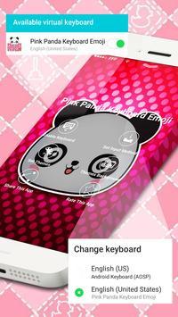 Pink Panda Keyboard Emoji apk screenshot