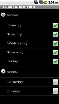 (Free) Ringer Volume Scheduler apk screenshot