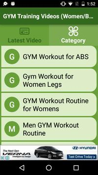 GYM Training Videos (Women/Beginners/Men Workout) screenshot 1