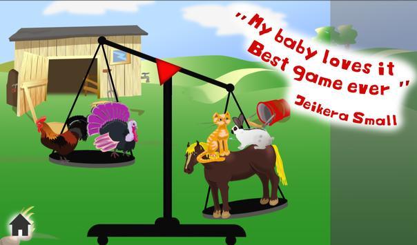 Fun Animal Weigh Free Kid Game apk screenshot