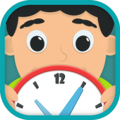 Kids learn to tell time free icon