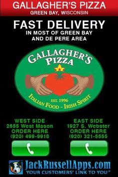 Gallagher's Pizza Green Bay poster