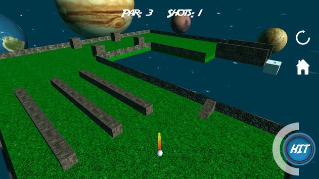Mini Golf 3D in Space screenshot 2