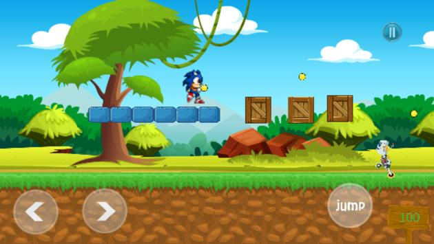 Game of Sonic hedgehog dash free poster