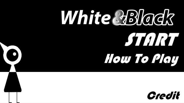 White&Black poster