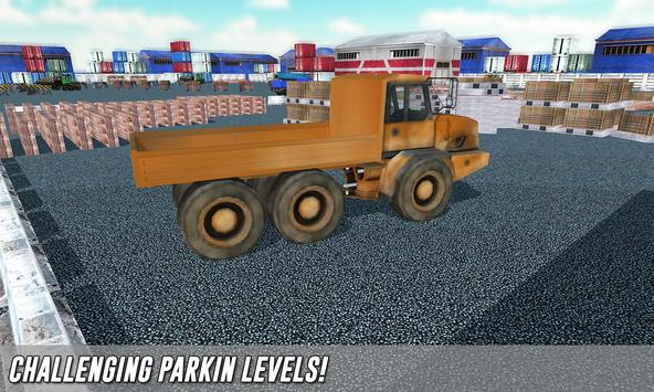 Real truck parking game 2017 poster