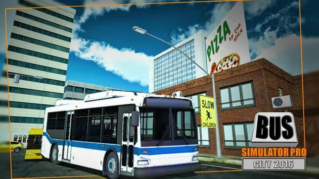 Bus Simulator Pro - City 2016 screenshot 7