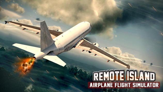 Remote Island Airplane Flight poster