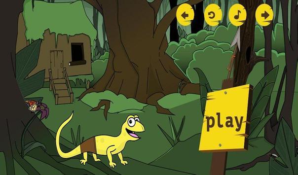 Sponge lizard poster