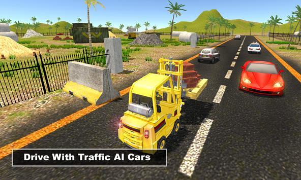 Construction Forklift Driver Simulator 3D apk screenshot