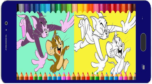 App Coloring Picture TOMY And JERRY apk screenshot