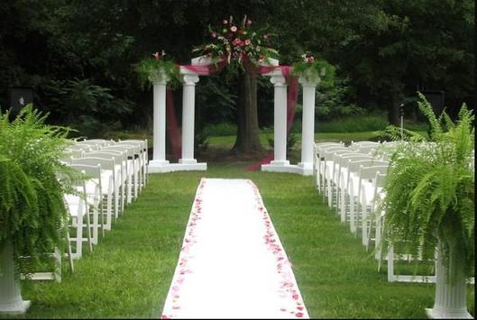 Garden wedding ideas poster