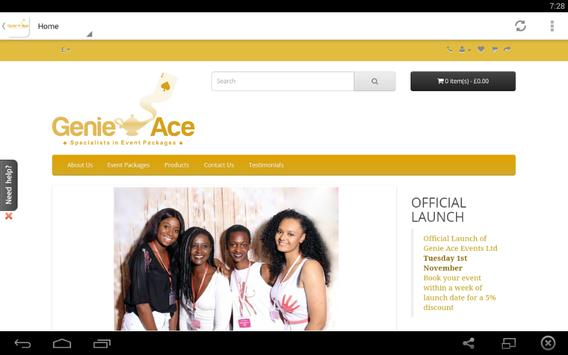 Genie Ace Events apk screenshot