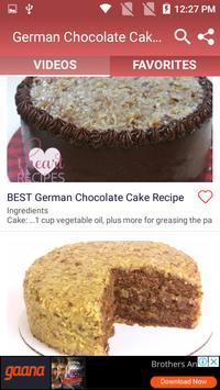 German Chocolate Cake Recipe screenshot 1