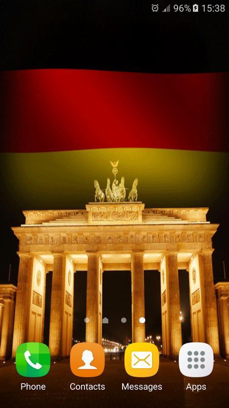 German Flag Waving Wallpaper Apk Screenshot